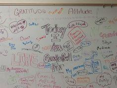 Classroom gratitude wall.