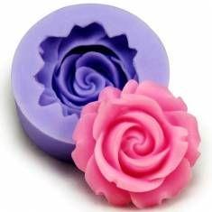3d de silicona rosa fondant molde decoración de pasteles
