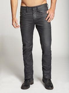 Vernon Slim-Fit Moto Jeans with Contoured Leg | GUESS.com