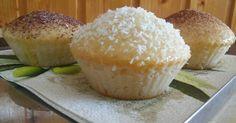 Mennyei Mini kürtöskalács muffin recept! Gyors pihe-puha nasi.🌞 Hamburger, Muffins, Paleo, Cupcakes, Bread, Breakfast, Mini, Sweet, Food