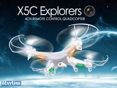 RC Quadrocopter Syma X5C 2.4G 4-Kanal 6-Achsen Gyro Drohne Quad, Channel, Remote, Drones, Giveaways, Crowd, Hands, Unique, Awesome