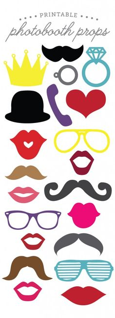 printable photobooth props - pinterest