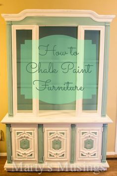 Annie Sloan Chalk Paint Tutorial: China Hutch Makeover How to Chalk Paint Furniture from Martys Musings