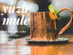 Impress your friends tonight with this zesty Hell's Half Acre cocktail! Pour ingredients into a shaker, double strain and pour into your favorite copper mug. Garnish with a lime wedge and Maraschino cherry🍒 #hha1885 #thirstythursday #mules #cocktails
