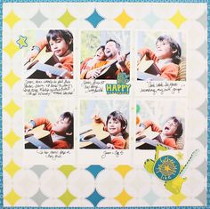 Like Father Like Son Be Young Boy Addition Scrapbook Layout Project Idea