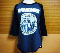 Image of Ramones T Shirt Punk Rock Baseball Shirt Women T Shirts Raglan Tshirt Lady T Shirt