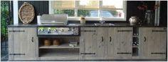Steigerhout keukenblok om zelf te maken.