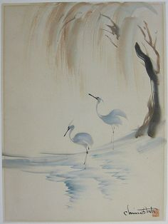 Two Herons by Chiura Obata Call: 510-526-1236