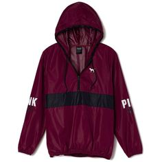 Victoria's Secret Anorak Pullover,print (€56) ❤ liked on Polyvore featuring tops, hoodies, jackets, outerwear, victoria's secret, graphic shirts, purple pullover hoodie, hoodie shirt, shirt hoodies and graphic hoodies