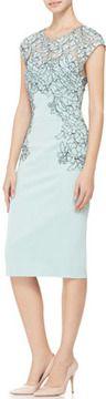 Lela Rose Cap-Sleeve Placed-Lace Dress on http://shefinds.shopstyle.com
