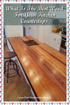 Wood countertop thickness generally ranges from a three-quarter inch to six inches, and butcher block from two inches to 12 inches. A wide variety of edge options exist. #woodencountertops Wooden Countertops, Butcher Block Countertops, Ranges, Woodworking Projects, Entryway Tables, Furniture, Home Decor, Wood Countertops, Decoration Home
