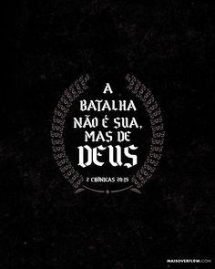 Ele disse: Escutem-me todos vocês povo de Judá e de Jerusalém! Escute rei Josafá! Assim diz o Senhor: Não tenham medo! Não fiquem desanimados por causa desse exército imenso pois a batalha não é sua mas de Deus.  2 Crônicas 20:15  #30DAYSOFBIBLELETTERING  X