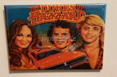 "Vintage Dukes of Hazzard metal Lunchbox 2"" x 3"" Fridge MAGNET"