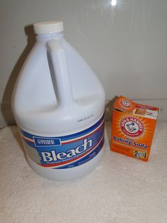 Bleach, Baking Soda and Water paste to remove mold in showers.