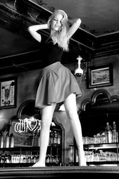 Bardot a-Go-Go: The Best Brigitte Bardot-Inspired Editorials: The littlest Brigitte so far! 17-year-old Daphne Groeneveld renacts the famous dancing scene from And God Created Woman for Dior's Addict campaign.