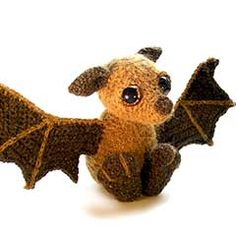 Otis the Bat amigurumi crochet pattern by Patchwork Moose (Kate E Hancock)