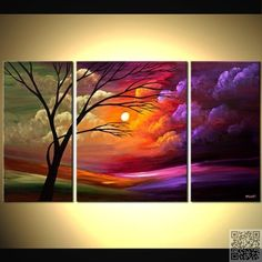 18. #Triple Look - 31 Paintings You Can Copy for Your Own #House ... → DIY #Bright