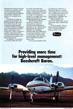 Original-Werbung/ Anzeige (USA) 1976 - BEECHCRAFT SIERRA AIRPLANE / FLUGZEUG - Ca. 160 X 230 Mm - Werbung