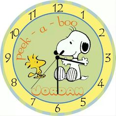 Baby Snoopy Personalized Clock