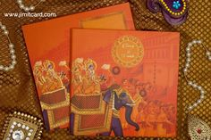 A Printed & attractive antique King Style the Elephant design Wedding Card adds to exquisiteness. Scroll Wedding Invitations, Wedding Invitation Card Design, Wedding Card Design, Invites, Wedding Cards, King Style, King Fashion, Elephant Design, Reception Decorations