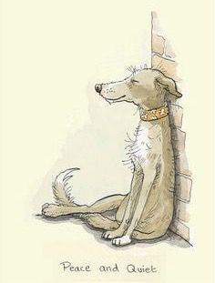 Illustration by Anita Jeram - dog Animal Drawings, Cute Drawings, Dog Illustration, Dog Paintings, Whimsical Art, Cute Art, Cute Animals, Character Design, Anita Jeram