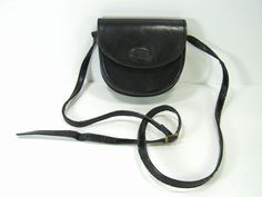 vintage shoulder bag purse black leather tiny small by moivintage, $34.99