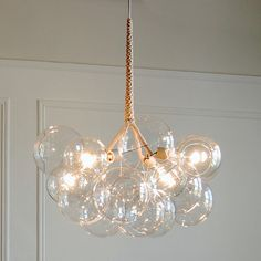 24k Gold XLarge Bubble Chandelier by PELLE by PELLEshop on Etsy