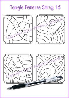 Strings for drawing zentangles_15. Zentangle от ZentangleHouse