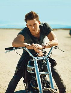 channing is prince charming, he traded the horse for a motor bike... <3