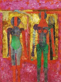 Tamayo, Rufino (1899-1991) - 1968 Two Women (Christie's New York, 2002) by RasMarley, via Flickr