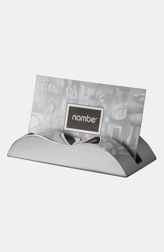 Nambe Wave Business Cardholder Metal - Present your business card in this stylish Wave Card Holder and make a personal statement at the same time. Business Card Holders, Business Cards, Classic Business Card, Stoneware Dinnerware, Lake Forest, Desk Accessories, Wedding Gift Registry, Bedding Shop, Great Gifts