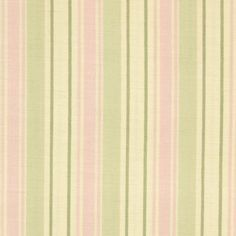 Cotton Quilt Fabric stripes beige pink green by the yard by aBirdOnMyHead