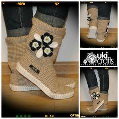 Puños de ganchillo ganchillo Crochet tejidos zapatos al aire libre botas para el hippie de s Street Folk Tribal Boho hecha al patrón de la orden