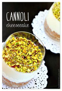cheesecake-ai-cannoli-siciliani Cannoli, Italian Cake, Italian Desserts, Ricotta, Easter Recipes, Dessert Recipes, Sicilian Recipes, Quick Meals, Finger Foods