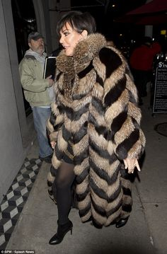 Quite the character! Jenner channeled her inner Cruella de Vil as she attended the Real Housewives of Beverly Hills star, Kyle Richards 47th birthday dinner party