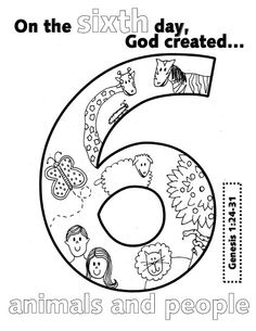 sunday school fe bible biblia books of bible the bible - Creation Day 2 Coloring Page