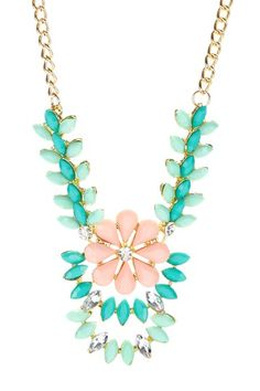 Floral Ivy Minty Necklace by t+j Designs on @HauteLook