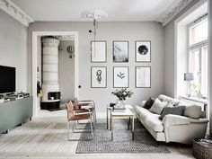 If you want a Scandinavian living room design, there are some things that you should consider and implement for this interior style. Wood as a material has an important role as well as light colors, because they give the living… Continue Reading → Grey Walls Living Room, Living Room Paint, Living Room Interior, Home Interior, Living Room Decor, Living Rooms, Kitchen Living, Living Room Scandinavian, Scandi Home