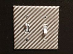 Cover a switchplate with washi tape for a quick makeover.