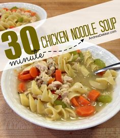 30-Minute Chicken Noodle Soup (From Scratch)