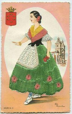 Vintage Cards, Vintage Images, Embroidered Silk, Embroidered Dresses, Dress Card, Country Fashion, Ethnic Dress, Cultural, Vintage Postcards