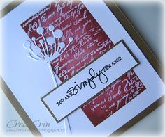 Beautiful card with Memory Box Chloe die by imcreaterin.blogspot.ca