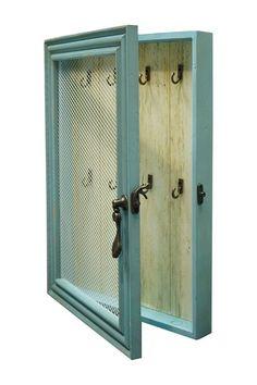Blue Frame Wood Key Box by VIP International on @HauteLook