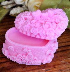 Rose Heart Box 3D Flexible Silicone Mold Candle Mold Soap Mold Polymer Clay Mold Resin Mold LZ0093 on Etsy, $13.99