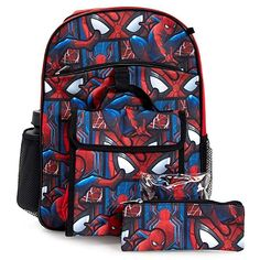 Spiderman Homecoming 5-Piece Backpack Set Review Spiderman Backpack 1646f31bd8aaf