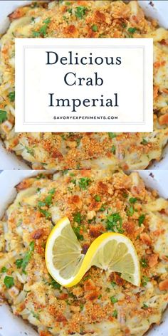 Crab Imperial is a deliciously easy lump crab recipe. It's one of the most popular recipes that use crab and oh so delicious! Ready in 30 minutes! Crab Imperial Savory Experiments savorycooking S Seafood Recipes, Dinner Recipes, Cooking Recipes, Canned Crab Recipes, Lump Crab Meat Recipes, Soup Recipes, Salad Recipes, Crab Imperial, Seafood