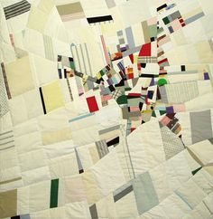Cartographic quilt: Oberg White by Ian Hundley