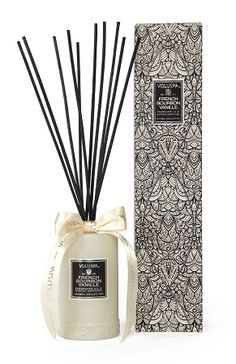 French Bourbon Vanille Diffuser French Bourbon Vanilla Beans ground and distilled for extract. A Voluspa Classic launched in 2006