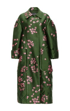 Floral Jacquard Oversized Coat by MONIQUE LHUILLIER for Preorder on Moda Operandi