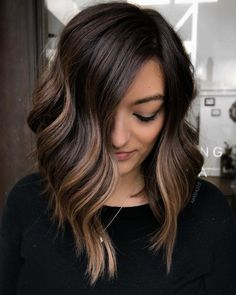 Bookmark this tag your : Hair Color Balayage, Bronde Balayage, Hair Highlights, Lob Hairstyle, Pretty Hairstyles, Fall Bob Hairstyles, Long Bob Hairstyles For Thick Hair, Medium Hair Styles, Curly Hair Styles